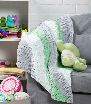 How To Make A Diagonal Baby Blanket