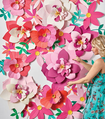 How To Make a Floral Wall