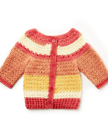 How To Make A Crochet Baby Stripes Sweater