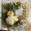 How To Make a Square Floral and Greenery Wood Wreath