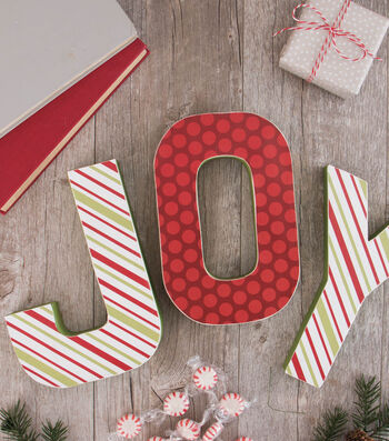 How To Make JOY Mantle Decor Letters