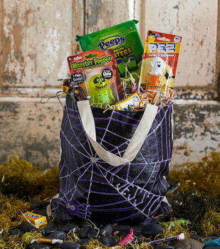 How To Make A Spiderweb Custom Trick or Treat Tote