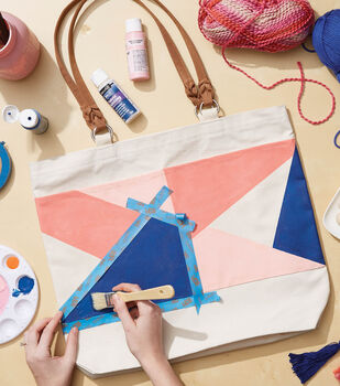How To Make a Painted Canvas Tote Bag