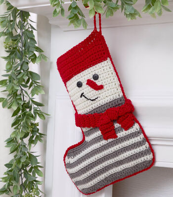 How To Make a Crochet Snowman Stocking