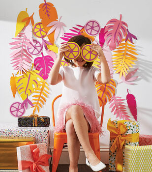 How To Make a Tropical Paper Wall