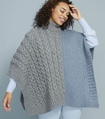How To Make a Lion Brand Touch of Alpaca Lane Poncho