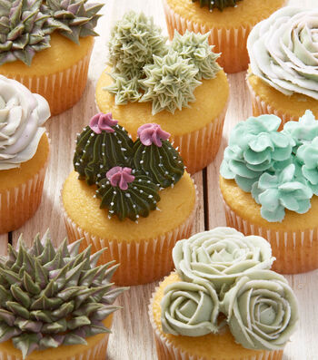 How To Make Succulent Decorated Cupcakes