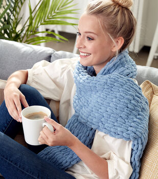 How To Make A Bernat Alize Blanket EZ Scarf