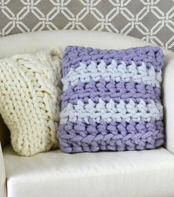 How To Make A Crochet Stripes Pillow