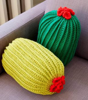 How To Make A Bernat Crochet Cactus Pillow