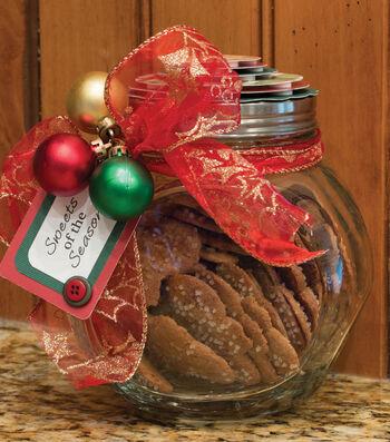 Storybook Christmas Cookie Jar