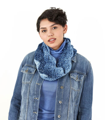 How To Make a Lion Brand Mandala Ombre Gradient Ripple Cowl