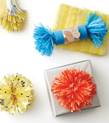Fringed Pom Pom Box Topper and Fringed Party Popper