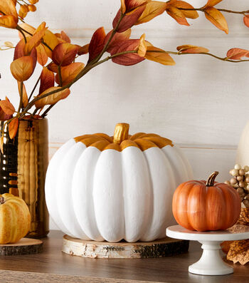 How To Make A Metallic Blocked Pumpkin