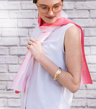 How To Make a  Dip-Dyed Coral Scarf