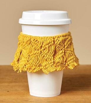 How To Make a Macrame Coffee Sleeve