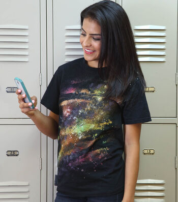 How To Make a Out of this World Spray Dye Galaxy T-Shirt