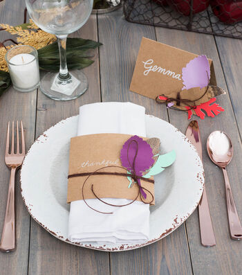 How To Make Thanksgiving Dinner Place Cards