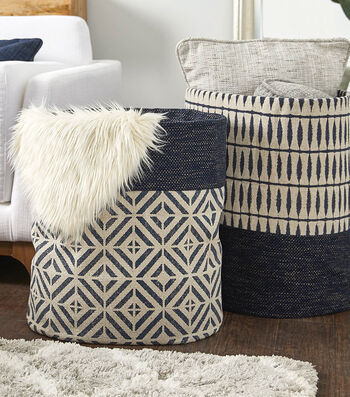 How To Make a Natural Textures Fabric Baskets