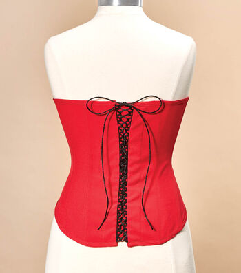 How To Sew a Lace Up Corset With Trim