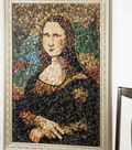 Mona Lisa Button Art