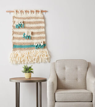 How To Make a Bernat Blanket Extra Wall Hanging Art to Crochet