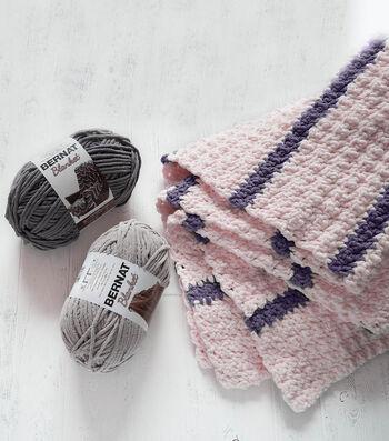 How To Make a Bernat Blanket Pin Stripe Crochet Blanket