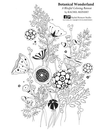 Botanical Wonderland Coloring Book Printables