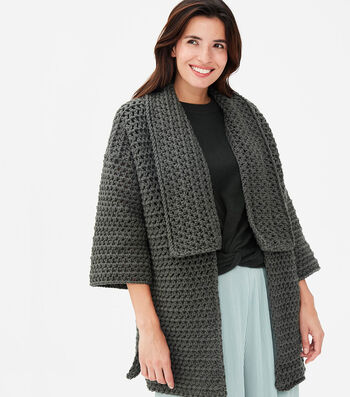 How To Make A Lion Brand Color Made Easy Quinn Crochet Cardigan