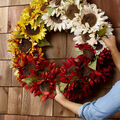 How To Make an Ombre Sunflower Wreath
