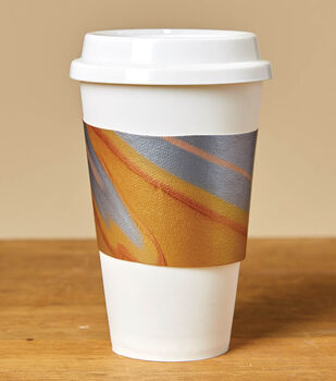 How To Make a Paint Pour Coffee Sleeve