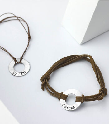 How To Make a Silver & Leather Hand Stamped Bracelet