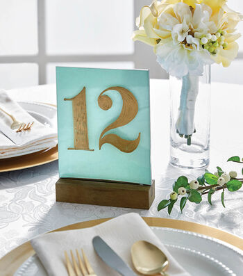 How To Make Acrylic Table Numbers