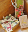 Glittered Holiday Gift Tag