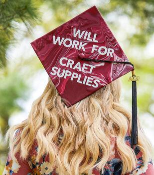 How To Make a Paint Pour Graduation Hat