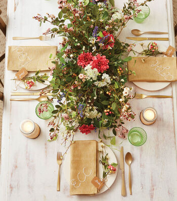 Spring Floral Tablescape