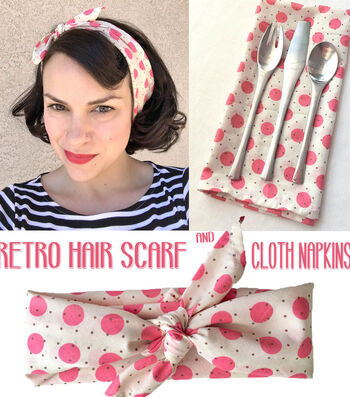 Gertie by Gretchen Hirsch Retro Hair Scarf/Cloth Napkin