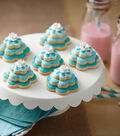 Teal Blossom Cookie Stacks