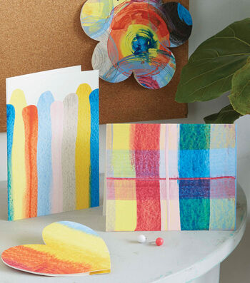 How To Make Scrape Painting Cards