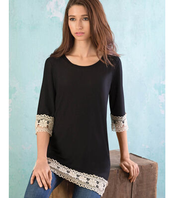 Boho Lace Trimmed Tunic