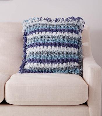 How To Make a Bernat Home Bundle Texture Fest Crochet Pillow