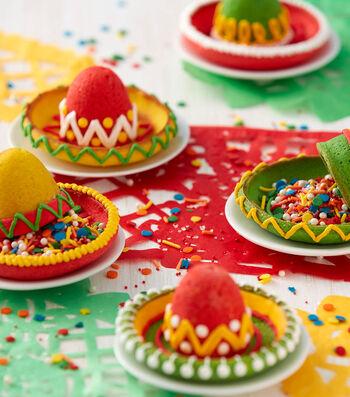 How To Make Cinco de Mayo Sombrero Pinata Cookies