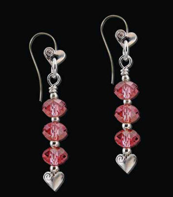 Crystal Earring with Heart