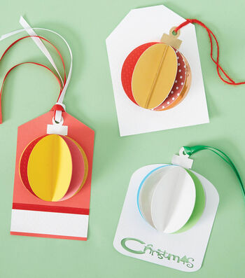 How To Make 3-D Ornament Gift Tags