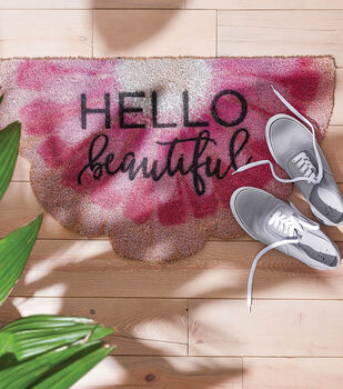 How To Make a Coco Door Stenciled Mat