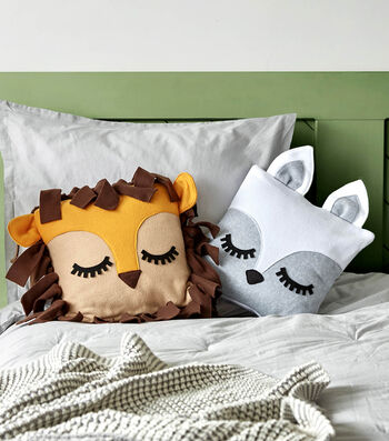 How To Make A Fleece Character Throw Pillow