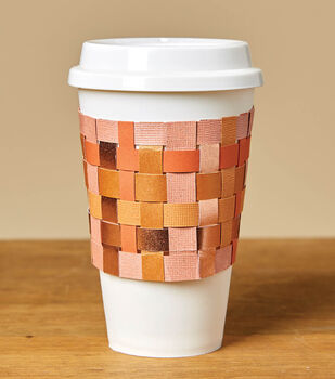 How To Make a Woven Paper Coffee Sleeve