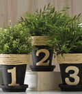 Soy Paint Numbered Herb Pots