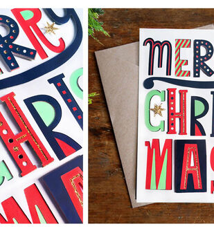 How To Make A Merry Mix Christmas Card