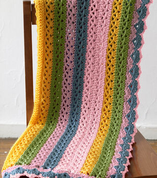 How To Make a Vanna's Choice Summer Stripes Baby Afghan